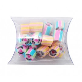 Custom Colour and Flavour Rock Candy in a Clear Pillow pack
